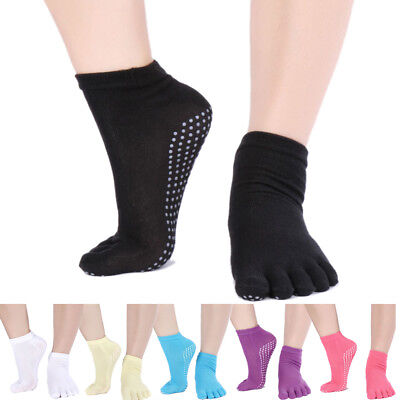 New Fashion Women Sport non slip five finger toe Cotton Socks ankle Yoga Pilates
