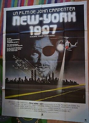 ESCAPE FROM NEW YORK 1981 ORIGINAL French Grande Film / Movie Poster.