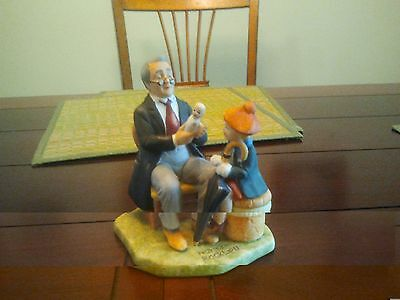 """""""Doctor and the Doll"""" - Norman Rockwell  ceramic figurine - 1980"""