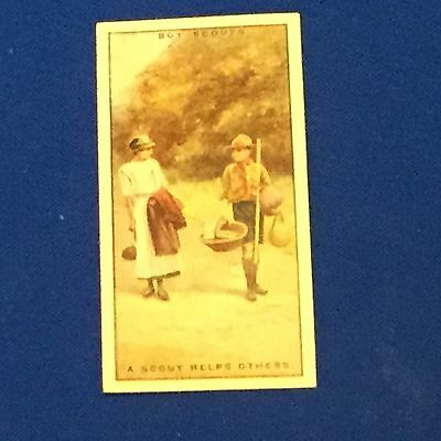 Boy Scout Tobacco / Cigarette Card A Scout Helps Others