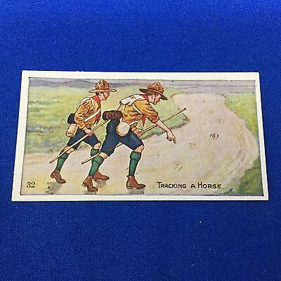Boy Scout Trading Card Scout Gum Company #32 Tracking A Horse