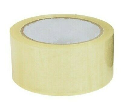 SELLOTAPE - 48mm x 50m - Parcel Tape Rolls Clear Packaging Packing Supplies 2 ""