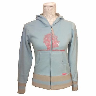 "Pink Floyd Official Girls Pale Blue Glitter Hoodie - Size S 26"" - 28"" Chest"