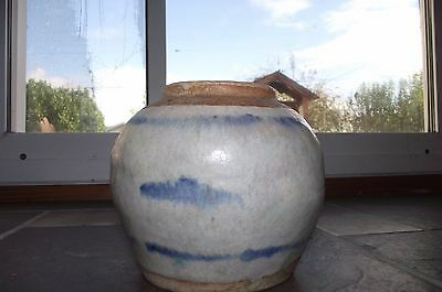 Antique 17thc Ming Dynasty Blue & White GINGER JAR