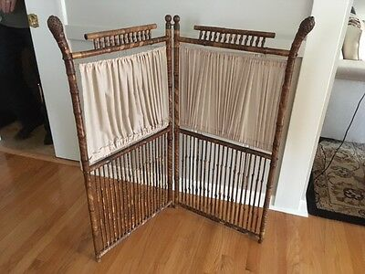 SALE Antique Bamboo privacy screen/furniture in the style of Perret-Vibert Paris