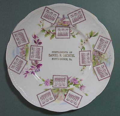 1906 Calendar Plate from Huff's Church PA - Excellent Condition