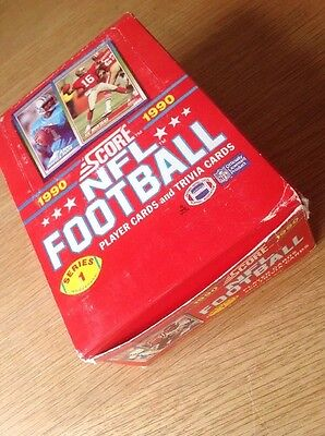 UNOPENED Box Score 1990 Series 1 NFL American Football TRADING CARDS