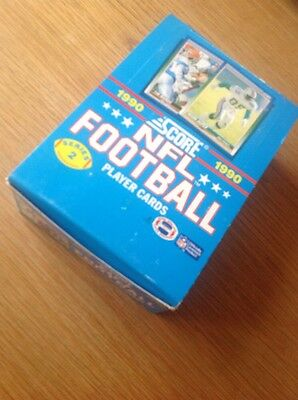 UNOPENED Box 1990 Score NFL American Football TRADING CARDS