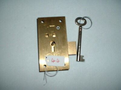 "new 4 lever solid bras cabinet lock 3"" x 1 1/2"" x1/2 "" fixing british made l & r"