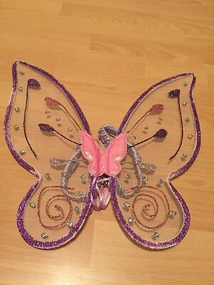Sparkly Dressing Up Fairy Wings With Bells Low Postage Costs