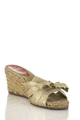 02b389a66715 CHRISTIAN LOUBOUTIN WEDGE espadrille sandals Size 8.5 -  218.73 ...