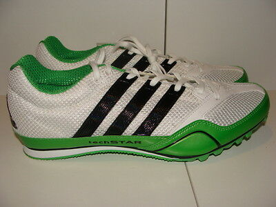 Mens Adidas Techstar All Around 2 Sprint Track Running Spike Shoes Size 7 Nwb