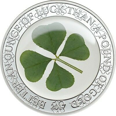 2017 CIT OUNCE OF LUCK – FOUR LEAF CLOVER 1oz SILVER PROOF COIN