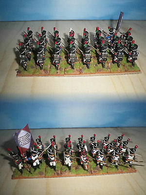 25/28 mm scale Napoleonic French Line 24 pcs- metal hand painted