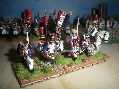 25/28 mm scale Napoleonic French Line Infantry 9 pcs- metal hand painted