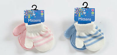 2 Pack Baby Boys Girls Mittens Childrens Kids Gloves Winter Warm New Tagged