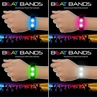 Beat Bands LED Motion Activated Flashing Light Up Wristband Stocking Filler