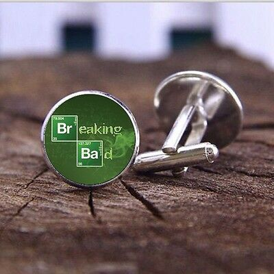 Breaking Bad - Heisenberg - Cufflinks - 3D Glass Lens Front - Walter White 2