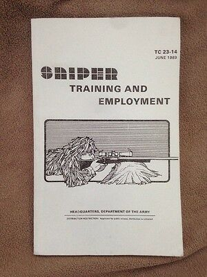 U.s Department Of The Army Sniper Training And Employment Handbook  1989