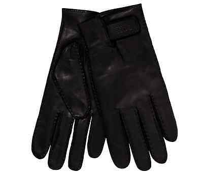 Hugo Boss Kranto Large Black Leather Gloves - Brand New With Tags