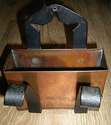 Unique Hand Made Wrought Iron Copper Mission Craftsman Letter Holder