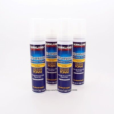 Kirkland 5% Minoxidil Foam Aerosol Hair Regrowth Treatment Men (4 months supply)