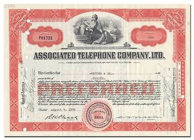 Associated Telephone Company, Ltd. Stock Certificate (California)