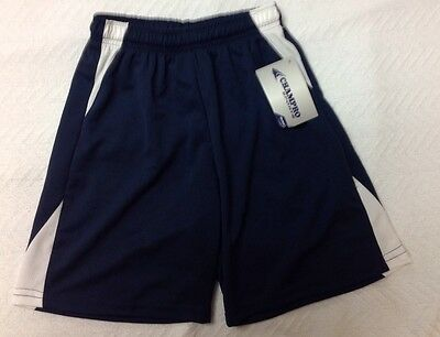 NWT Champro Youth Large Athletic Shorts Blue White