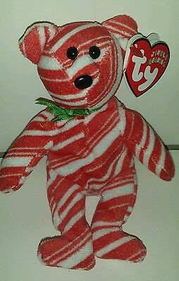 TY Jingle Beanie Baby - PEPPERMINT THE BEAR