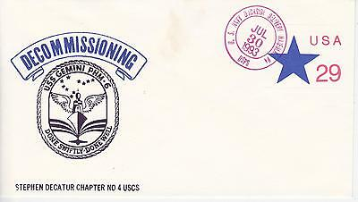 Naval Military Ship Event Cover - 1993 Uss Gemini Phm-6 Decommissioning Norfolk