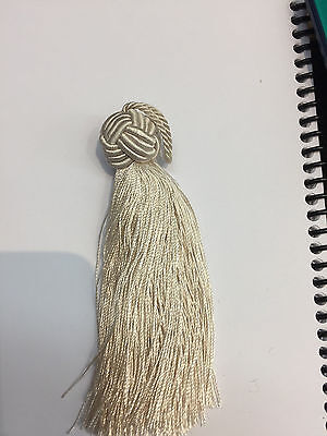 100 pieces Round ball Ivory  Key tassel perfect for runners pillows keychains