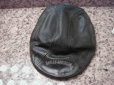 Harley Davidson Leather Hat Old & Used Large Made In China Good Leather