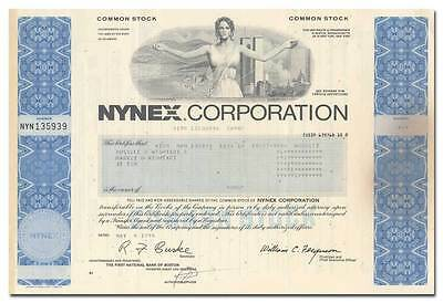 NYNEX Corporation Stock Certificate