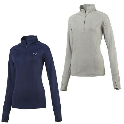 Puma W Solid 1/4 Zip Popover Ladies Golf Dry Cell