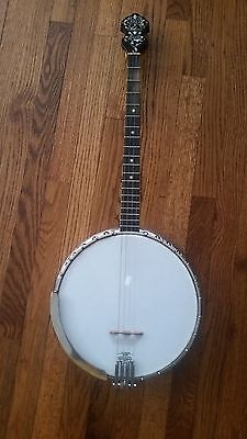 C.1920's Bacon & Day Silver Bell Banjo With Oettinger Tailpiece