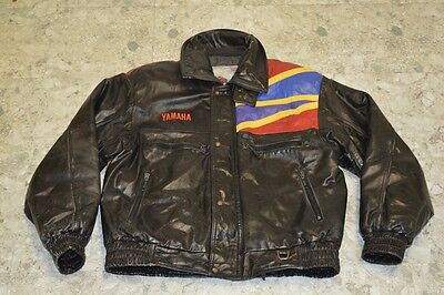Vintage Yamaha Snowmobile Thinsulate Leather Jacket Men's Size XL