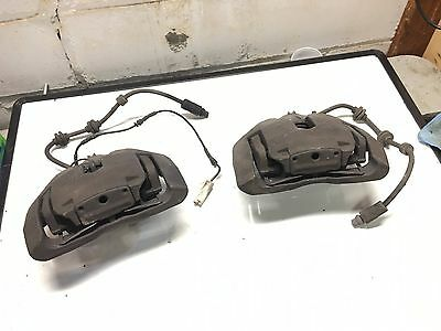 07-13 BMW 3-Series 335i 330xi Front BRAKE CALIPERS with PADS Carriers & Shields