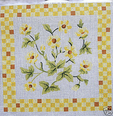 Yellow Flowers - DMC tapestry canvas