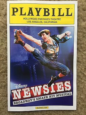 NEWSIES Playbill PANTAGES THEATRE Los Angeles 2015