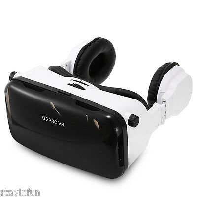 GEPRO VR Virtual Reality 3D Glasses with Foldable Earphones for  Smartphone