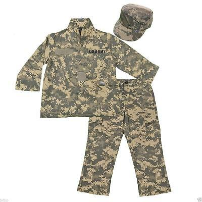 Kids United States Army ACU Camo 3pc Set Trooper Battle Replica Uniform