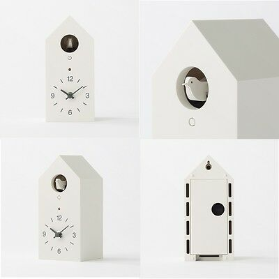 with tracking MUJI Mechanical cuckoo Wall or put clock White Japan light sensor