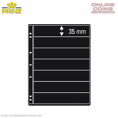 PRINZ ProFil 7 Pocket Black Stamp Album Pages Pack of 5