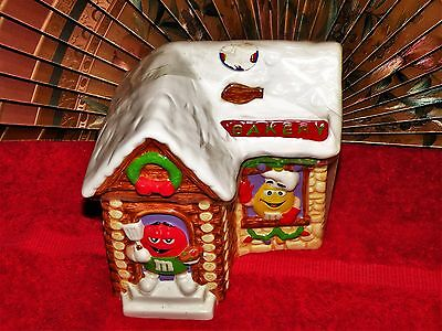 Collectible (Unopened)  2003 Christmas M&M's Ceramic Bakery Cookie or Candy Jar