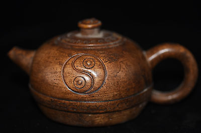 Antique Chinese Hand Make old Yixing purple sand teapot B9