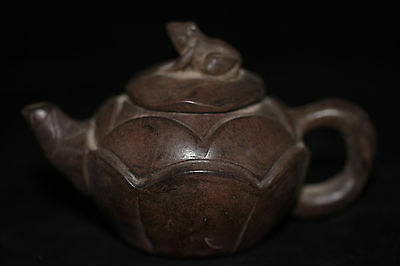 Antique Chinese Hand Make old Yixing purple sand teapot B11