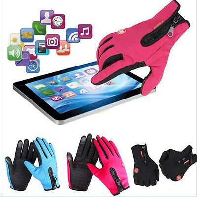 Waterproof Men's Women Winter Bicycle Ski Warm Motorcycle Touch Driving Gloves K