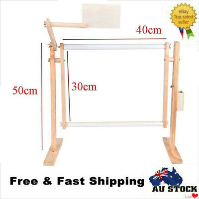Adjustable Solid Wood Cross Stitch Rack 50cm Embroidery Frame Wooden Stand
