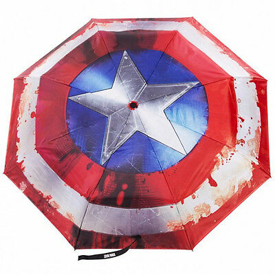 NEW OFFICIAL Captain America Marvel Avengers Classic Logo Symbol Umbrella Brolly