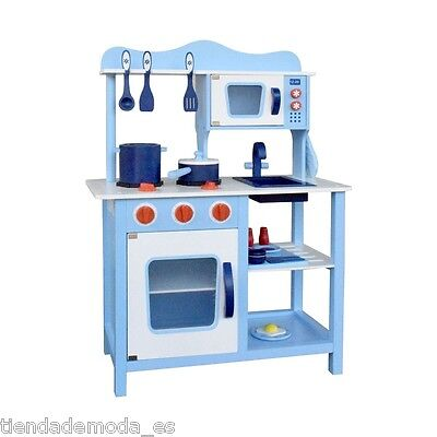 Wooden Kitchen PRETEND PLAY SET Toy Children Gift Cooking Home Toddlers Cookware